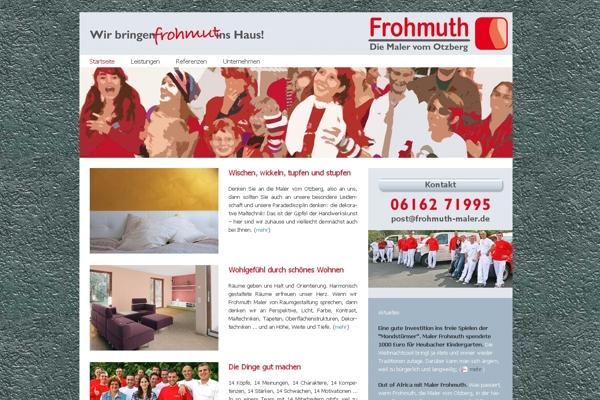 Tolle Website von Maler Frohmuth