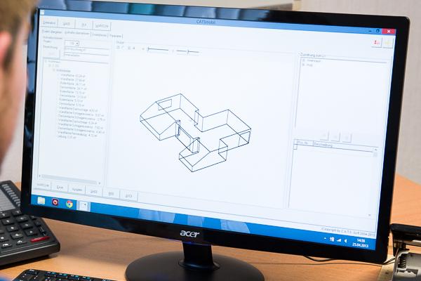 Mit dem 3D-Raumplan der Aufmaßssoftware CATSmobil hat man den totalen Überblick.