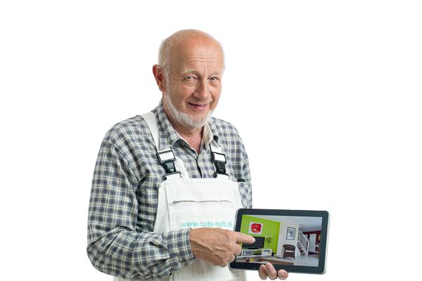 Mit paintersBOX, der Software für Farbgestaltung aus dem Hause C.A.T.S.-Soft, erstellt ein Maler oder Stuckateur im Handumdrehen einen individuellen Farbentwurf  oder Farbvorschlag für seinen Kunden.