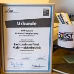 Malermeister Alessandro Schmidt gewinnt den KFW-Award GründerChampion 2013 für das Bundesland Hessen.