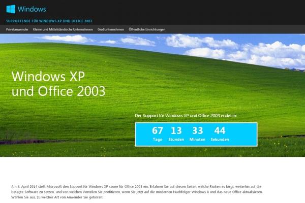 Schluß mit Windows XP: Nur noch 67 Tage bis zum Ende einer Ära.
