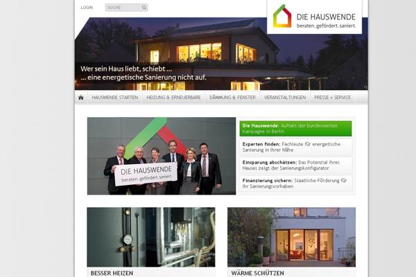 """""""Die Hauswende"""": Neue Kampagne zur energiesparenden Sanierung gestartet."""