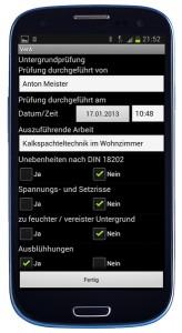 Mit der App VerA erstellt ein Maler oder Stuckateur im Handumdrehen unter Nutzung von Checklisten Schadensdokumentationen und vieles mehr.  So macht mobiles Arbeiten Spaß.