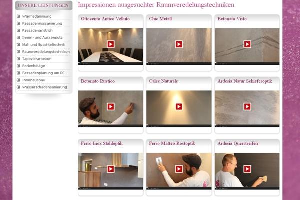 Malermeister Michael Schmidt setzt in professionellen, kurzweiligen Videos Raumveredelungstechniken gekonnt in Szene. www.malermeister-michael-schmidt.de