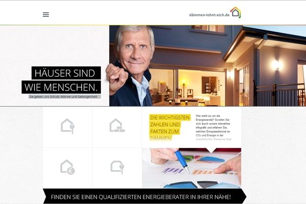 """Werbekampagne """"Dämmen lohnt sich!"""""""