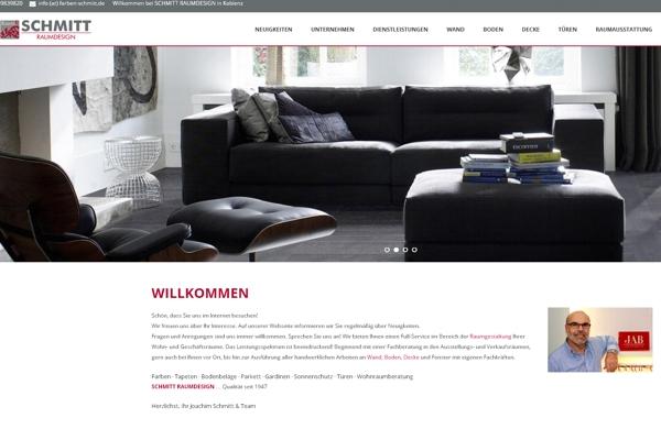 Neuer Webauftritt von Schmitt Raumdesign, Koblenz