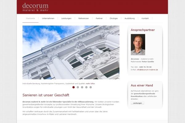 Decorum malerei & mehr: Website mit Pfiff! Malermeister Peter Goehle aus Hamburg begeistert mit seinem Webauftritt.