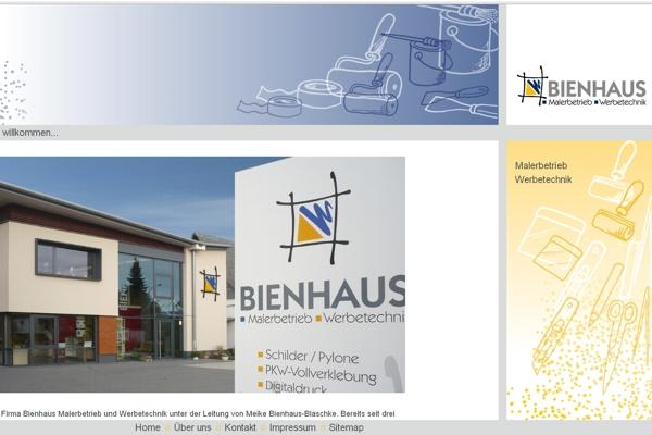 Bienhaus Malerbetrieb und Werbetechnik aus Allendorf-Battenfeld überzeugt mit perfektem Webauftritt.