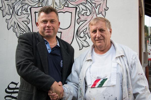 Malerbetrieb Lissner, Biedenkopf: Malermeister Friedrich Lissner und sein Nachfolger Bernd Schneider .