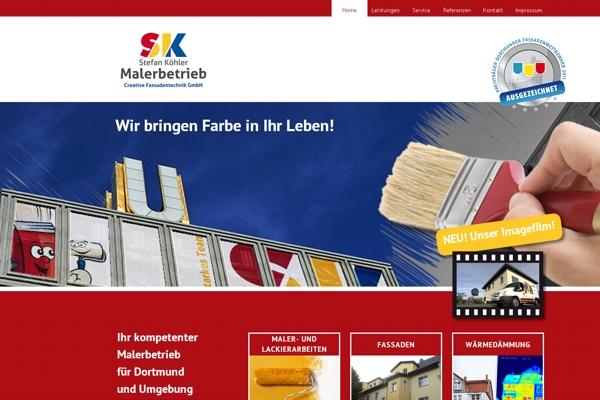 """Top-Website: Der Malerbetrieb Stefan Köhler setzt auf Farbe. Sein Firmenmotto """"Wir bringen Farbe in Ihr Leben!"""" setzt er mit seiner Website perfekt in die Tat um."""