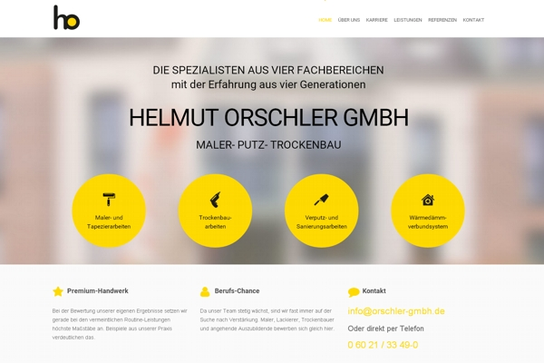 TOP-Website, Malerbetrieb Orschler GmbH, Goldbach