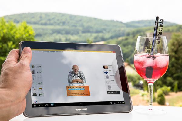 Mit der Maler-Software von C.A.T.S.-Soft auf dem Tablet unterwegs mobil arbeiten