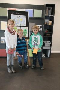 Die Gewinner: Frida, Anton und Noa; Foto: Stranzenbach