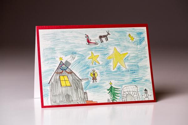 Die Weihnachtskarte mit dem Bild der Gewinnerin erfreute Kunden, Partner und Freunde des Malerbetriebs Stranzenbach.