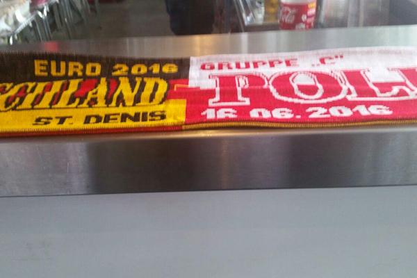 Ein Fanschal für das Spiel Deutschland gegen Polen - Foto: privat
