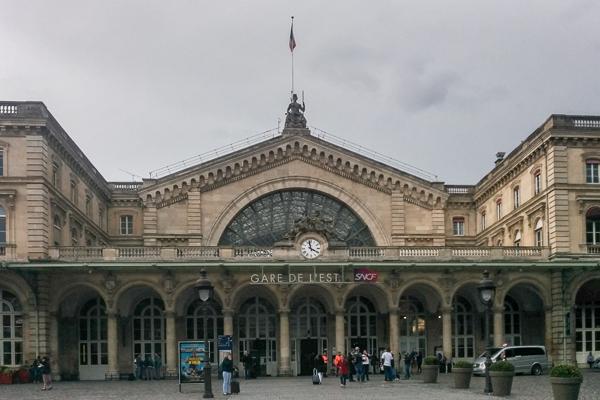 Gare de l'Est, der Ostbahnhof von Paris, bei durchwachsenem Wetter - Foto: privat
