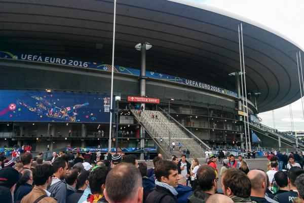 """Auf dem Weg ins """"Stade de France"""" von Saint-Denis - Foto: privat"""