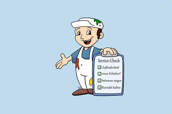 Der professionelle setzt auf Service-Checks und erfreut damit seine Kunden.