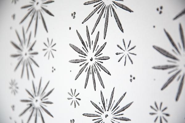 Orientalische Sterne mit der Musterwalze apliziert