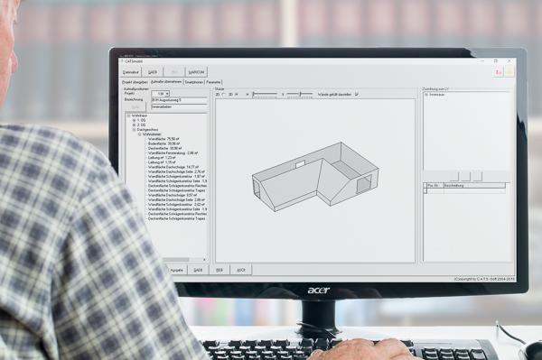 Dachgeschoss: Raumaufmaß als 3D-Ansicht für Architekten