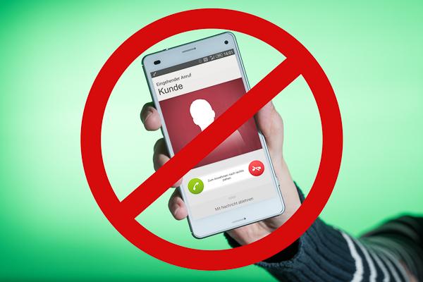 Bitte nicht stören! Anrufe mit dem Smartphone ablehnen