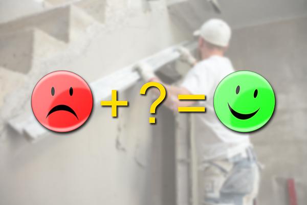 Smileys geben Auskunft über den Stand der Baustelle.