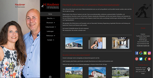Website Malerbetrieb Haubner , Bergnau
