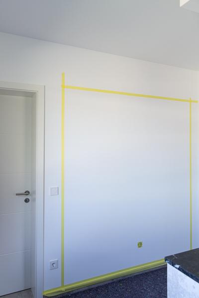 Abgeklebte Wand