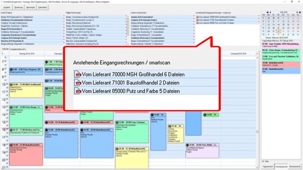 Auszug Kontaktmanagement der Maler-Software C.A.T.S.-WARICUM