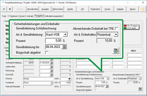 Rückforderung von Gewährleistungsbürgschaften mit der Maler-Software