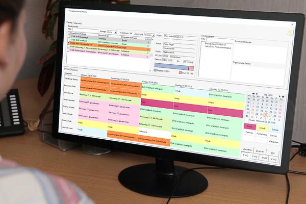 Projekt-Einsatzplanung der betriebwirtschaftlichen Maler-Software von C.A.T.S.-Soft