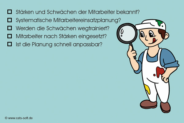 """Checkliste """"Mitarbeiter"""" im Malerbetrieb"""