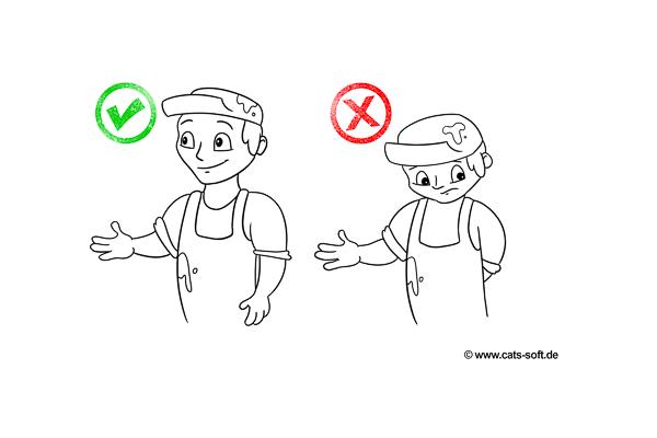 Handwerk: Auf die richtige Körpersprache achten