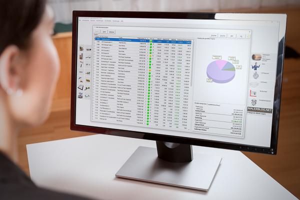 Mit dem Chef-Informationssystem CIS der betriebswirtschaftlichen Maler-Software C.A.T.S.-WARICUM ist Baustellencontrolling in Echtzeit möglich.