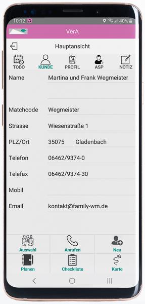VerA- das mobile Büro für Kunden- und Kontaktmanagement (CRM) im Handwerk