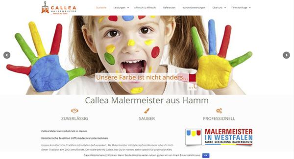 Top-Website: Malermeister Callea zeigt volle Onlinepräsenz