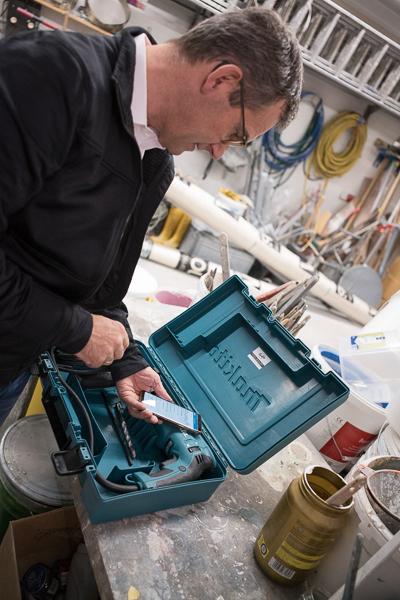 Malermeister Erjawetz hat sein Gerätemanagement im Griff