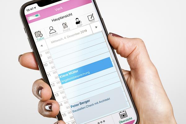 Das mobile Büro VerA auf dem iPhone 11 pro