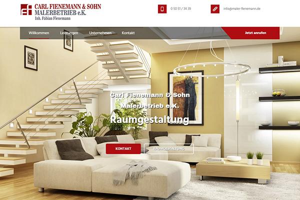Top-Website: Malerbetrieb Fienemann aus Bergen