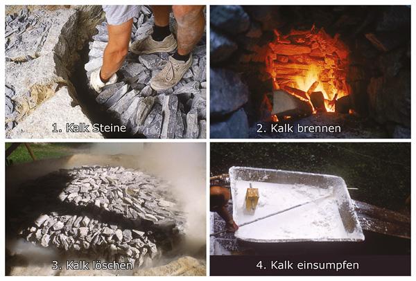 """Die Technik des """"Sumpfens"""" von Kalk wurde schon vor tausenden Jahren in China und Ägypten entwickelt."""