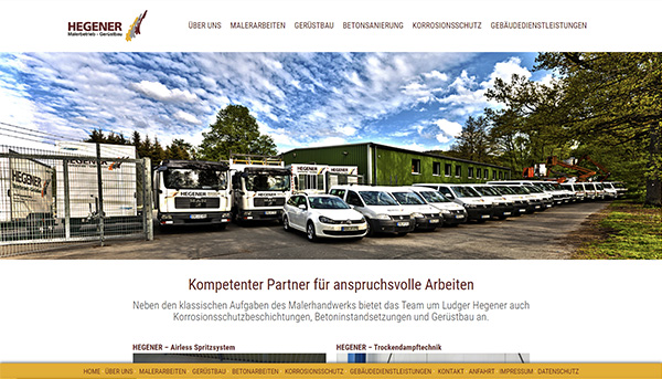 TOP Website: Malerbetrieb Hegener