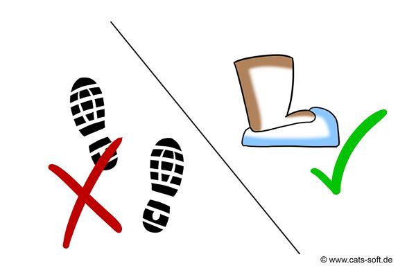 Tipp 3: Schuhüberzieher griffbereit haben