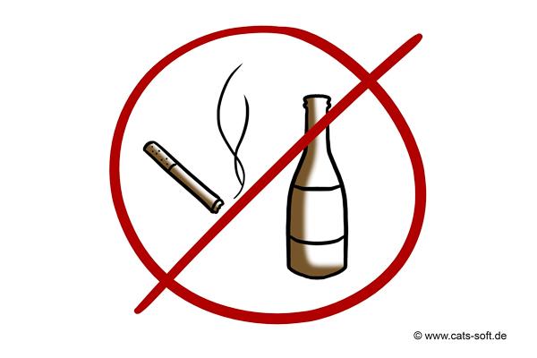 Tipp 6: Keine Zigaretten und kein Alkohol