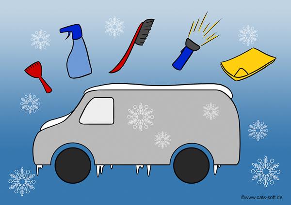 Tipp für Mitarbeiter auf der Winterbaustelle - Firmenwagen