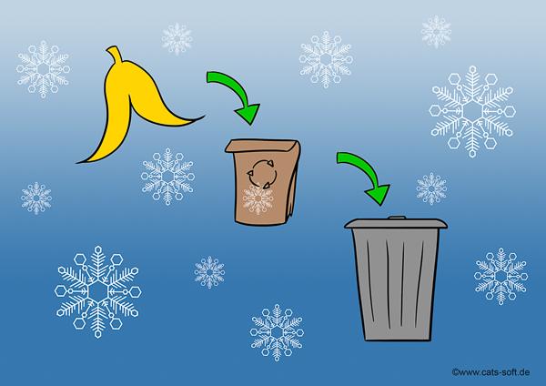 Tipp für Mitarbeiter auf der Winterbaustelle: Müllentsorgung