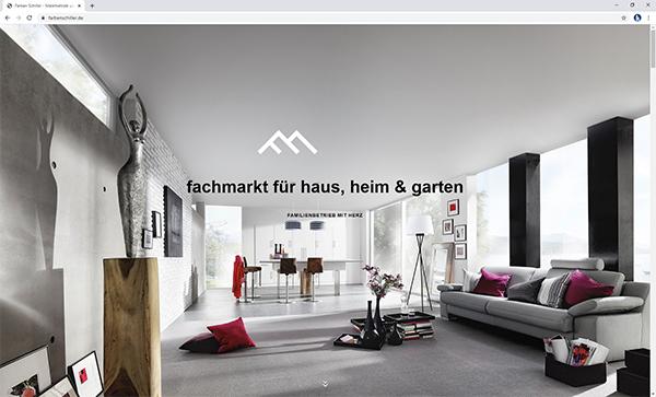 TOP-Website: Farben Schiller – ein Familienbetrieb mit Herz